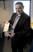 Edwin Rijnveld, the guiding force behind Siltech, holding a prototype SAGA phonostage.