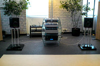 Mini Arabesques in the Crystal/Siltech listening room driven by Edwin's superb Siltech SAGA system electronics.