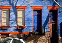 Blue and Orange House