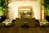 D'Agostino Master Audio System Momentum Monoblock Amps and Integrated Amp in Wilson Alexia Room