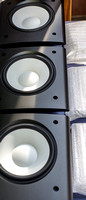 Mid/bass drivers fitted into their aluminum faceplates