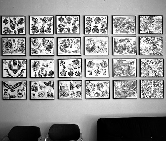 Tattoo Parlor Wall