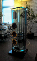 Arabesque in  listening room in Crystal/Siltech facility.